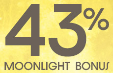 Your moonshine bonus: Grab 43% extra coins tonight!